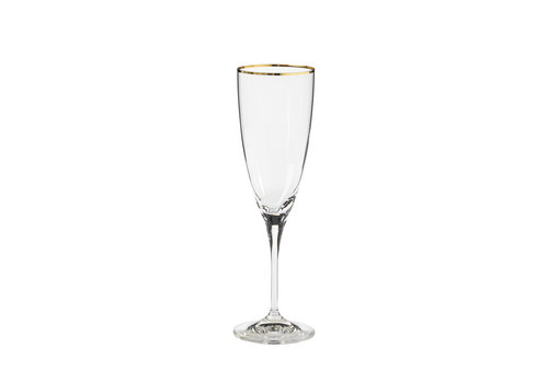 Flute 220 ml, SENSA, clear w/ golden rim