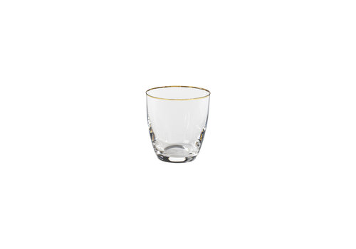 Tumbler 300 ml, SENSA, clear w/ golden rim