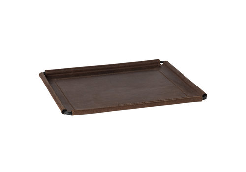 Leather rect tray 31 cm