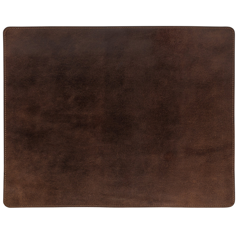 Leather rect. placemat