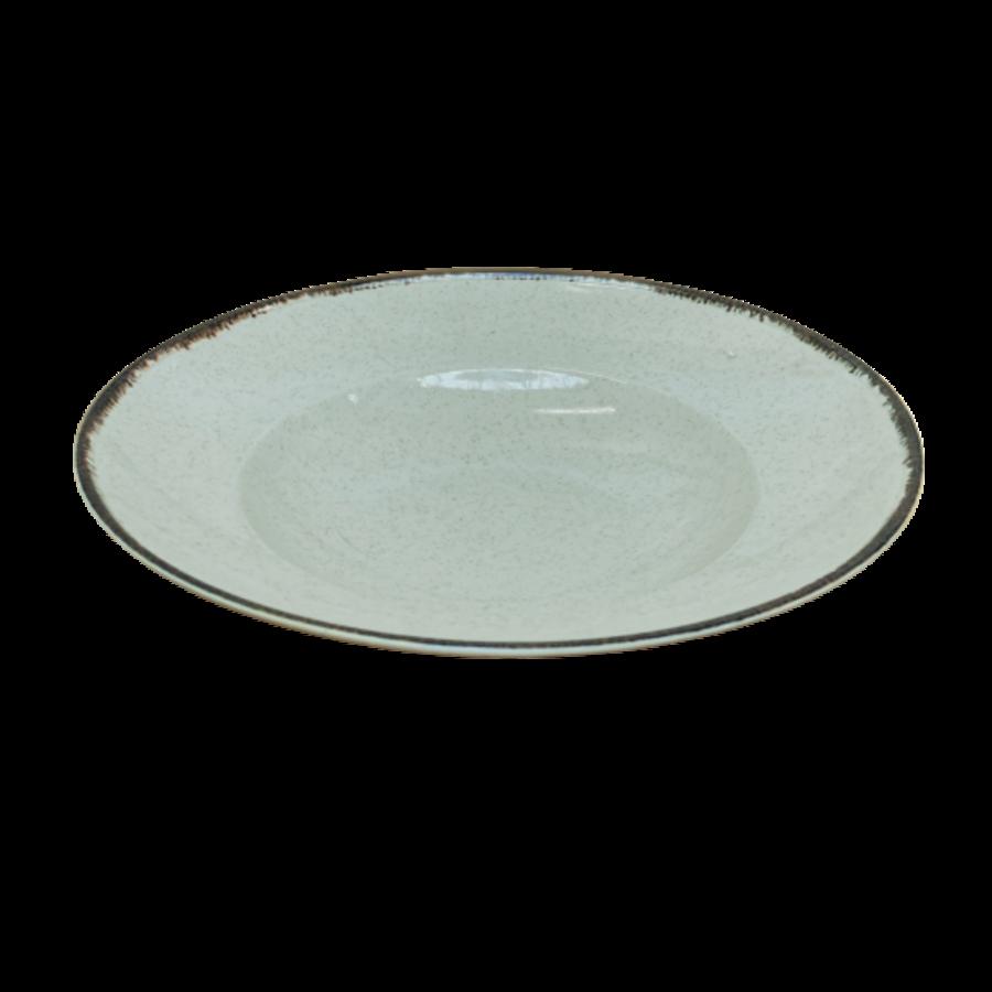 Spaghetti plate  27 cm ocean sea green