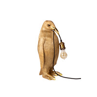 penguin lamp gold