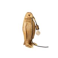 pinguïn lamp goud