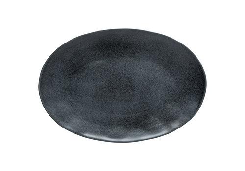 ovale schaal 45cm Livia zwart
