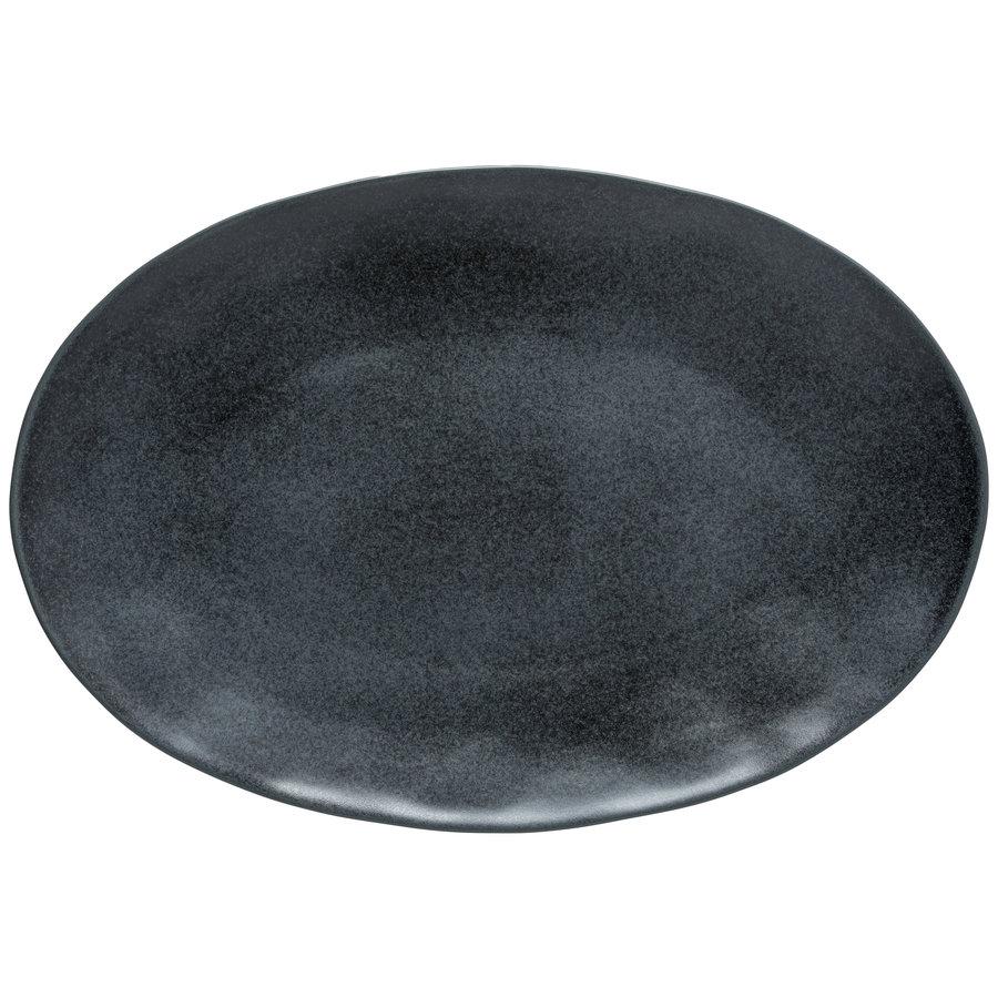 ovaleschaal 45cm Livia zwart