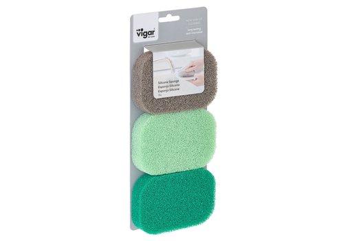 silicone sponge set/3
