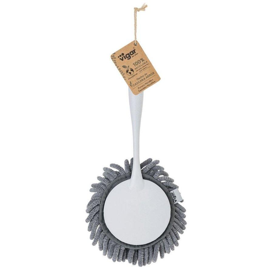 round microfiber duster