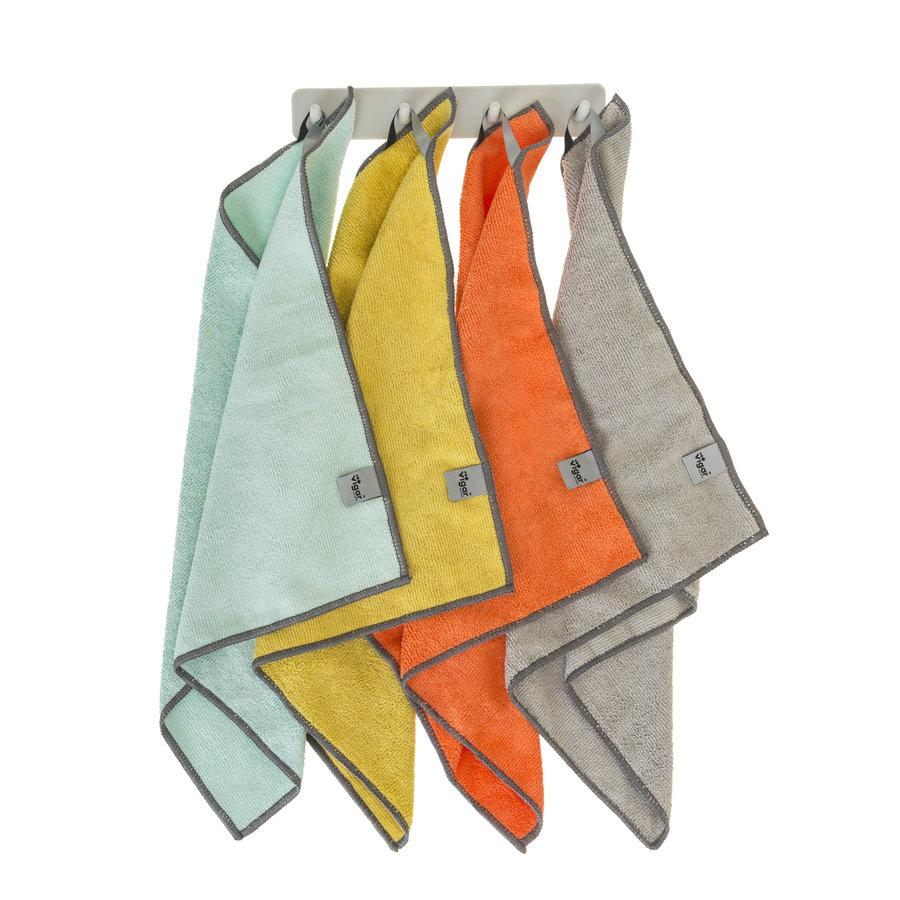 microfiber cloths set /4 with hooks