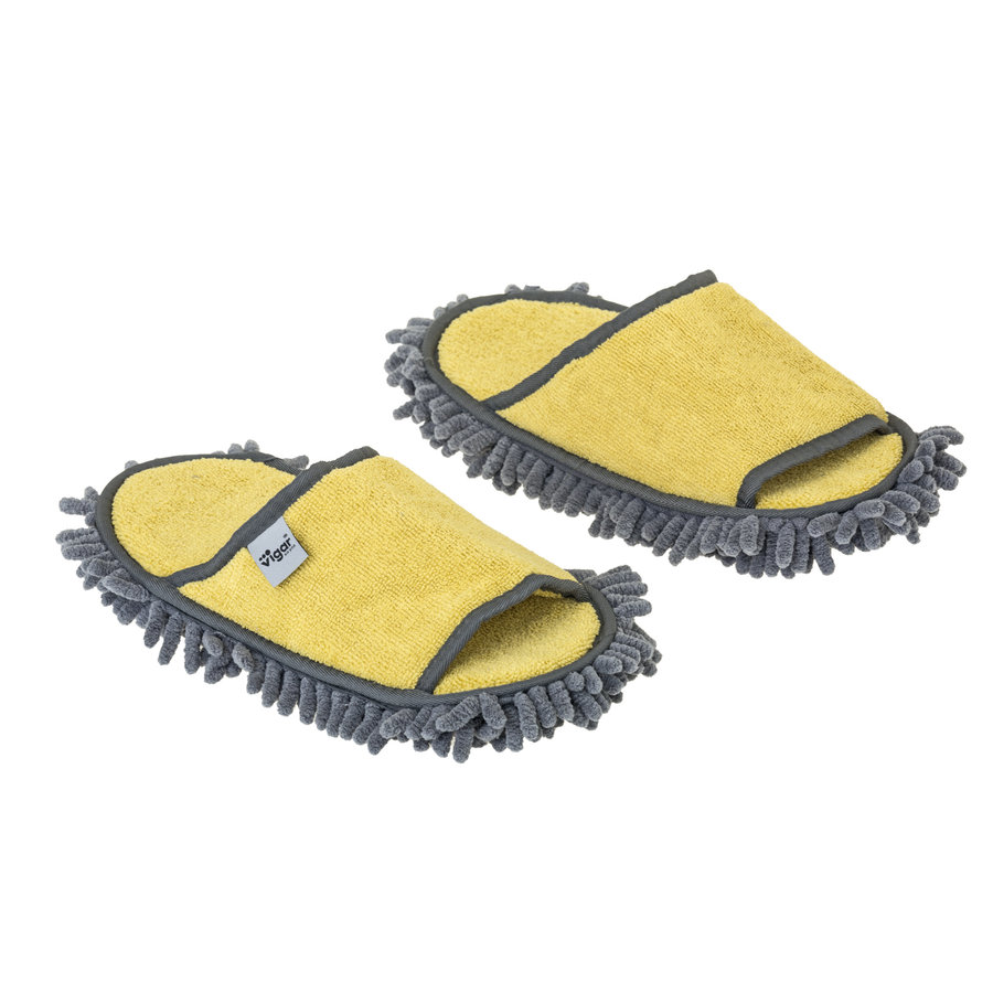 microfiber cleaning slippers yellow