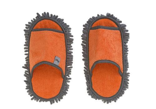 microfiber schoonmaak slippers oranje
