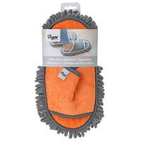 microfiber cleaning slippers orange