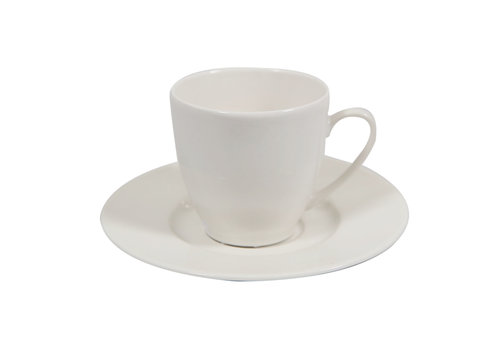Saucer coffeecup Jersey offwhite