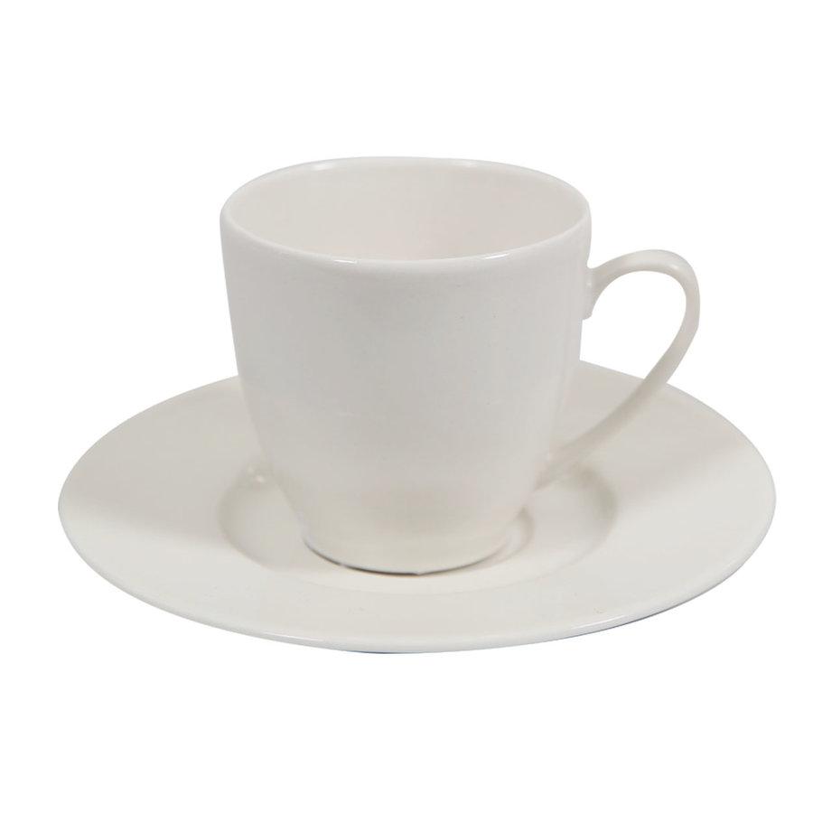 Schotel koffiekopje Jersey offwhite