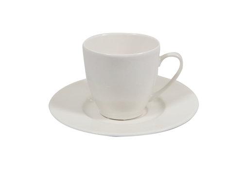 Koffie kopje Jersey offwhite