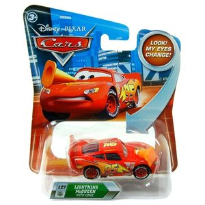 Disney Cars Lightning McQueen with Cone (Look! My eyes change!)