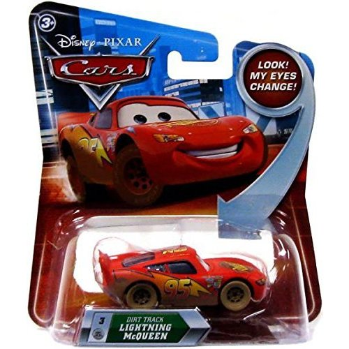 Disney Cars Dirt Track Lightning McQueen (Look my eyes change!)