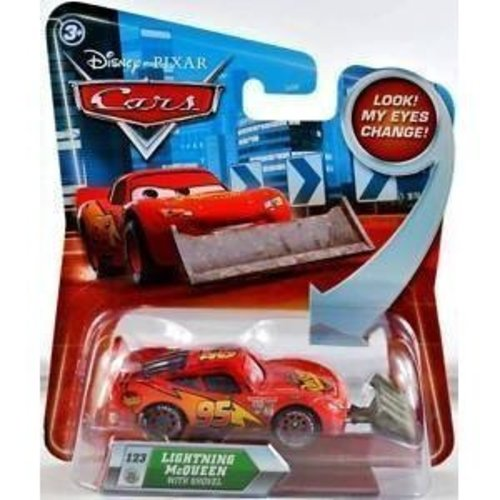 Disney Cars Lightning McQueen with Shovel (Look my eyes change!)