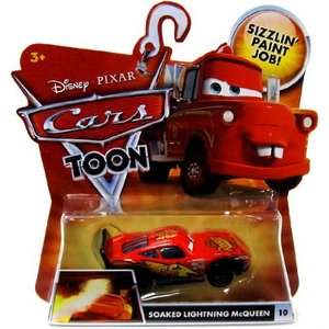 Disney Cars Soaked Lightning McQueen (Toon Cars)