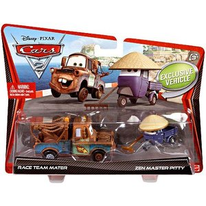 Disney Cars Race Team Mater & Zen Master Pitty (2-Pack)