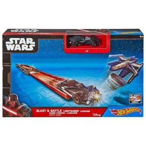 "Hot Wheels Hot Wheels - Blast & Battle Lightsaber Launcher ""Darth Vader"""