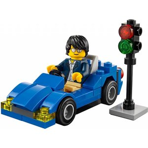 Lego City - 30349 -Blue Car & Traffic Light (Polybag)