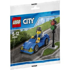 Lego City - 30349 -Blue Car & Traffic Light (Polybag)