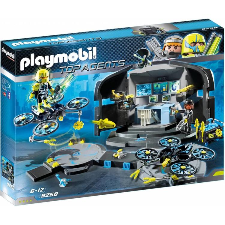 playmobil  top agents  9250  dr drone's command center