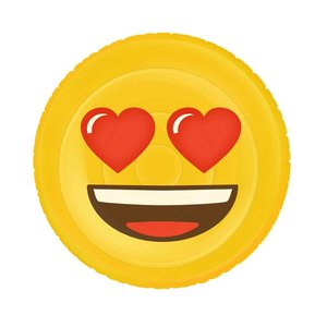 Emoji XL Inflatable Bed - Face Heart