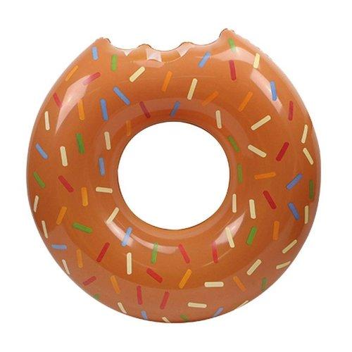 Floating Zwemring Mega Donut Bruin  (119 cm)