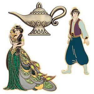 Disney Princess Art of Jasmine - Pin Set of 3