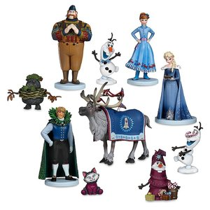 Disney Frozen Olaf's Frozen Adventure Deluxe Figurine Play Set - 10-Pc