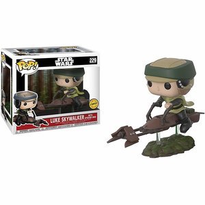 Star Wars Funko Pop - Luke Skywalker with Speederbike  - No 228 - Chase