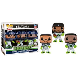 Seattle Seahawks Funko Pop - Legion of Boom - Earl Thomas - Richard Sherman - Kam Chancellor - 3pack