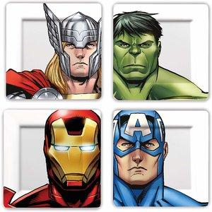 Marvel Avengers - Melamine  Borden Set (4 stuks)