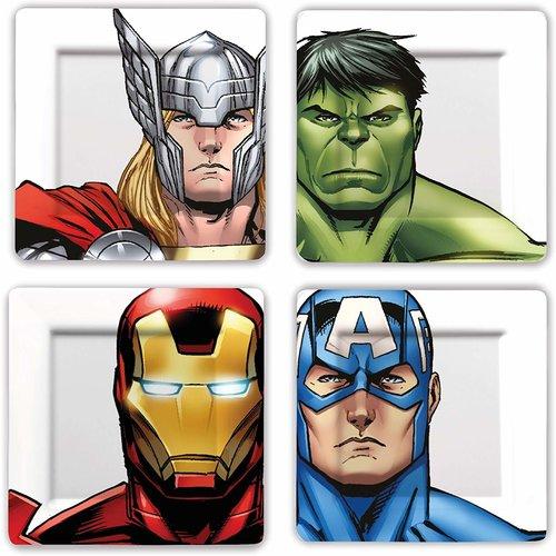 Marvel Avengers - Melamine Plate Set (4 Pieces)