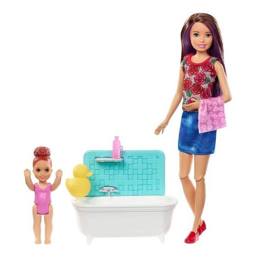 Barbie Skipper Babysitters - Bathtime Playset