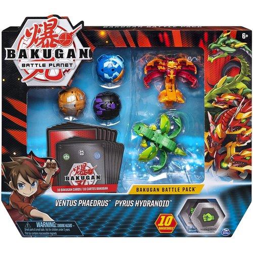 Bakugan Battle Pack mit 5 Bakugan - Ventus Phaedrus - Pyrus Hydranoid