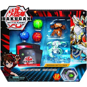 Bakugan Battle Pack mit 5 Bakugan - Aurelus Lupitheon - Haos Vicerox