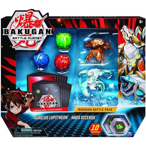 Bakugan Battle Pack met 5 Bakugan - Aurelus Lupitheon - Haos Vicerox