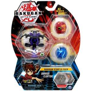 Bakugan Starter Pack met 3 Bakugan - Darkus Cloptor