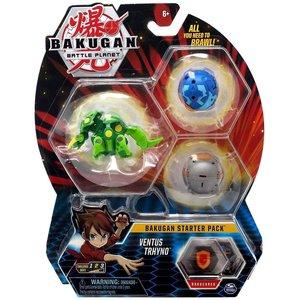 Bakugan Starter Pack with 3 Bakugan - Ventus Trhyno