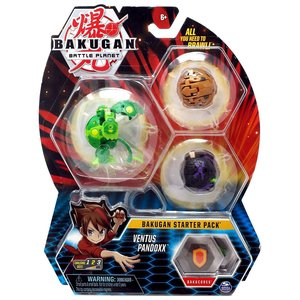 Bakugan Starter Pack met 3 Bakugan - Ventus Pandoxx