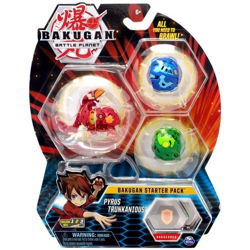 Bakugan Starter Pack met 3 Bakugan - Pyrus Trunkanious