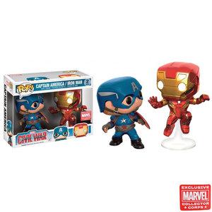 Marvel Funko Pop - Captain America/Iron Man - 2 Pack