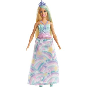 Barbie Dreamtopia - Prinzessin Puppe Blond mit buntem Outfit