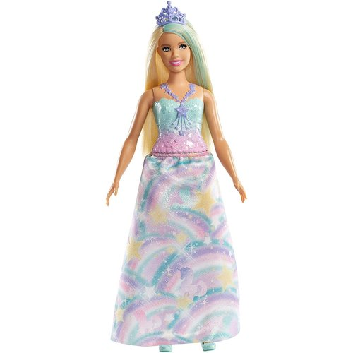 Barbie Dreamtopia - Princess Doll Blonde with Colorful Outfit