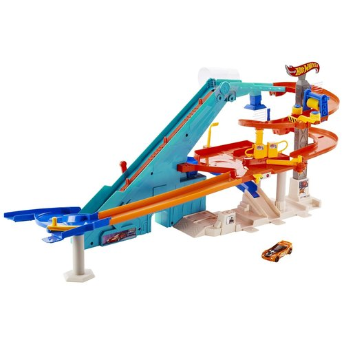 Hot Wheels Car Wash /Gemotoriseerde Mega Garage