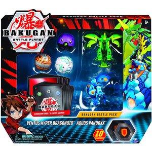 Bakugan Battle Pack met 5 Bakugan - Ventus Hyper Dragonoid - Aquos Pandoxx