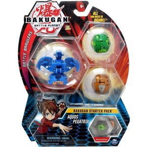 Bakugan Starter Pack mit 3 Bakugan - Aquos Pegatrix