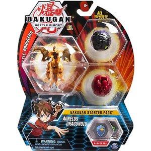 Bakugan Starter Pack met 3 Bakugan - Aurelus Dragonoid